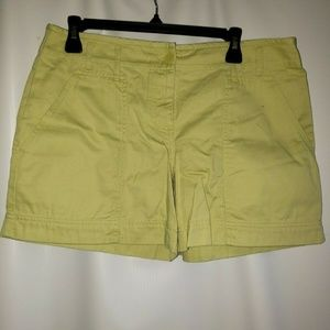 Ann Taylor Loft Women's Shorts Green Basic Casual
